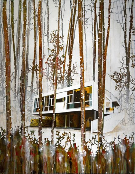 Fascinated by the work of Paul Davies, an Australian architectural-landscape painter and sculptor.