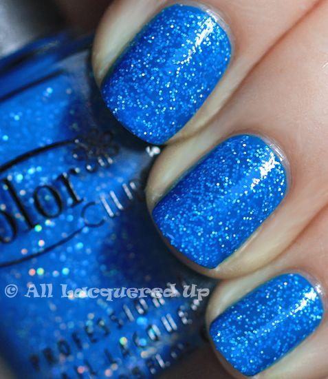 blue sparklezzzzzzz: Blue Sparkles Nails, Blue Nails Polish, China Glaze, Pretty Color, Color Club, Neon Blue Nails, Neon Starry, Sparkly Nails, Blue Sparkle Nails