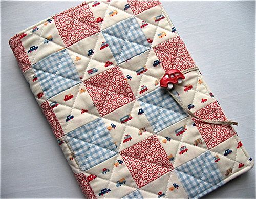quilted notepad cover
