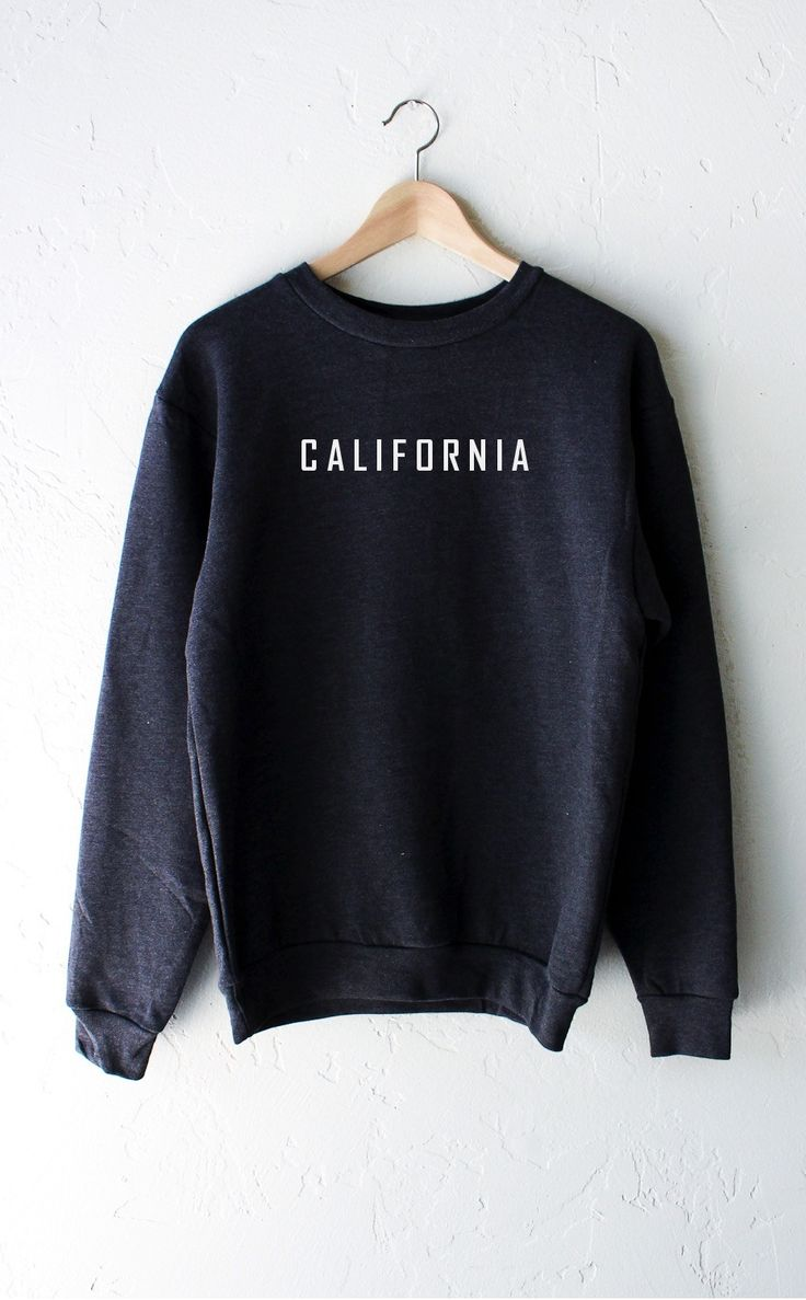- Description Details: Super soft & oversized crew neck fleece sweatshirt in dark heather grey with print featuring 'California' by NYCT Clothing. Unisex, oversized/loose fit. Measurements: (Size Guid