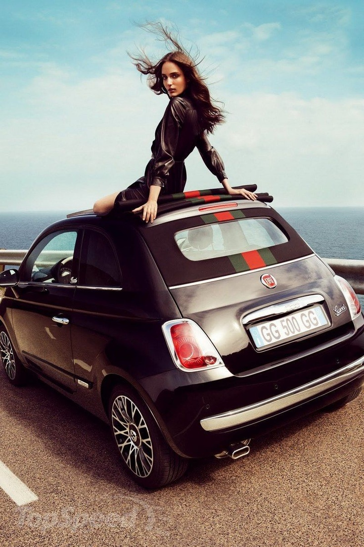 2012 Fiat 500 Cabriolet by Gucci - the glam shot.