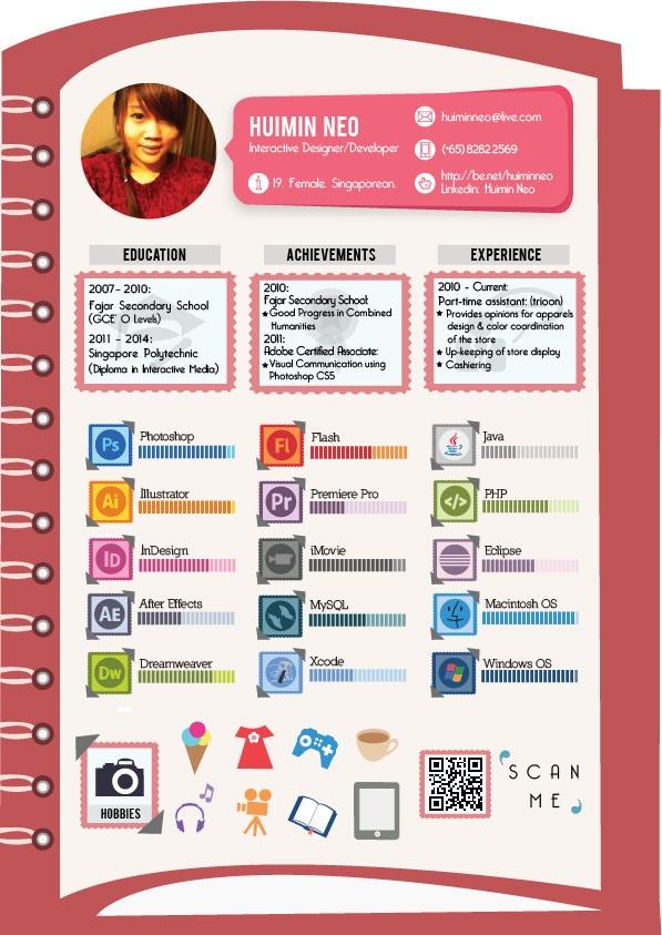 huimin neo infographic visual resumes