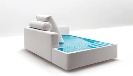Swimming Pool sofa! Perfect for yr deck i think.:  12 Most Creative Sofas - Oddee.com (cool sofas, cool couches)
