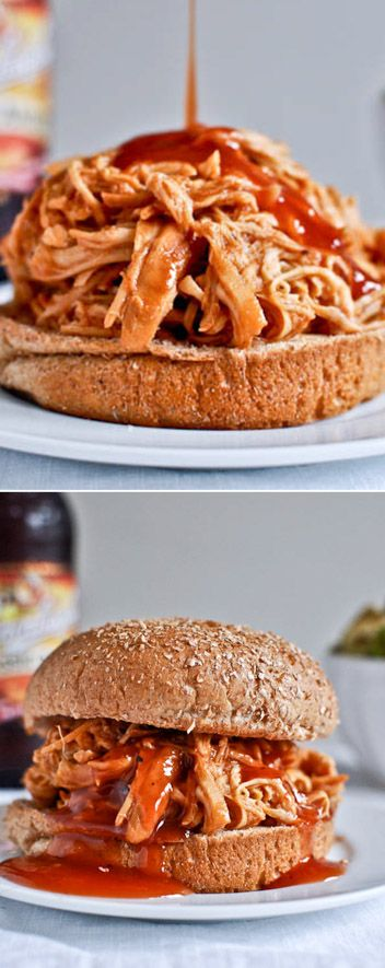 Slow Cooker BBQ Chicken Sandwiches by @howsweeteats I howsweeteats.com