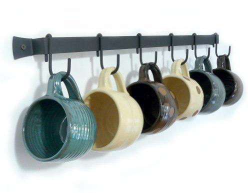 Coffee Mug Rack Where The Heart Is Pinterest Hooks