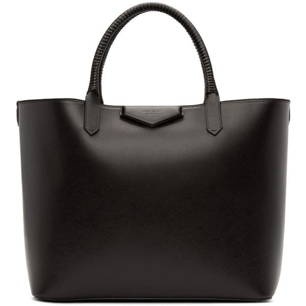Givenchy Black Large Antigona Shopping Tote ($2,025) ❤ liked on Polyvore featuring bags, handbags, tote bags, purses, сумки, purse tote, man tote bag, givenchy purse, tote purse and givenchy