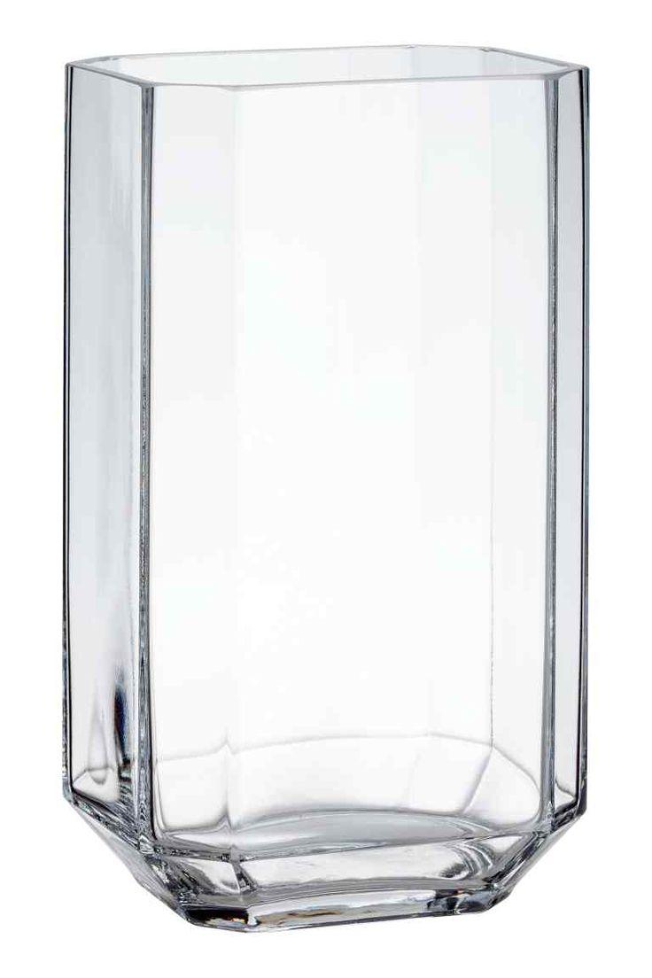 Grand vase en verre - Verre transparent - Home All | H&M FR