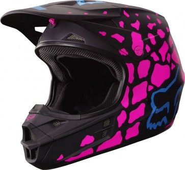 Fox Racing V1 Grav Womens Off Road Dirt Bike ATV MX Motocross Helmets