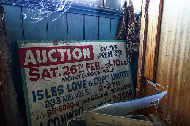 This old Auction side was tucked against the wall, collecting dust and spider webs Inside this Brisbane, Australia abandonment!