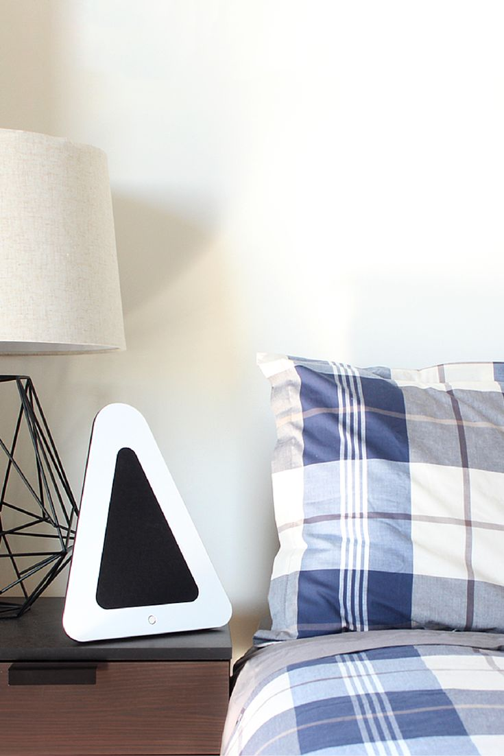 From relaxing before bedtime to waking up to your favourite song, the Triangle speaker makes a great addition to any bedroom.