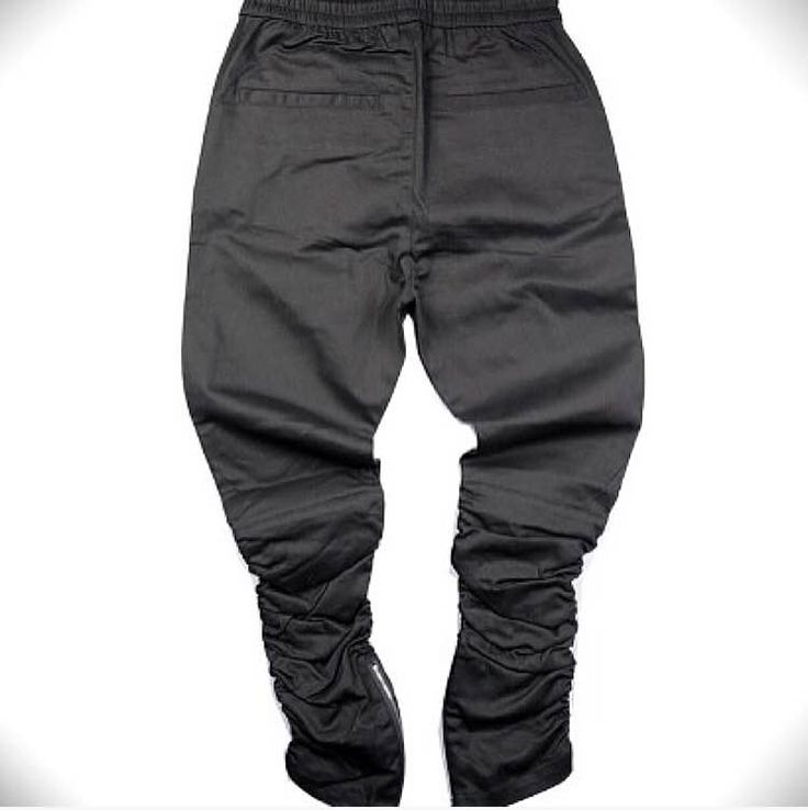 Side zipper slim fit joggers