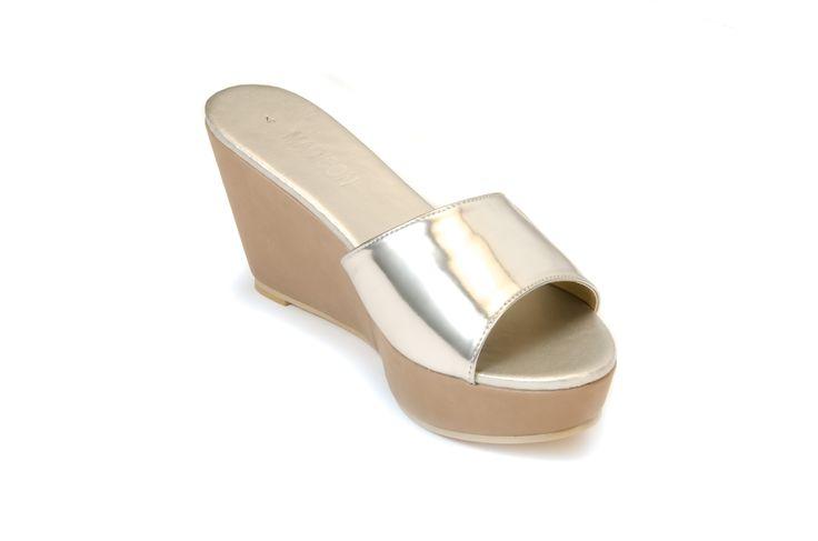 OKLAHOMA Silver/Taupe R355.00 from www.madisonheartofnewyork.com follow us on Twitter @Madison Shoes SA