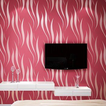 3D non-woven wallpaper flocking thick living room bedroom wallpaper background wallpaper