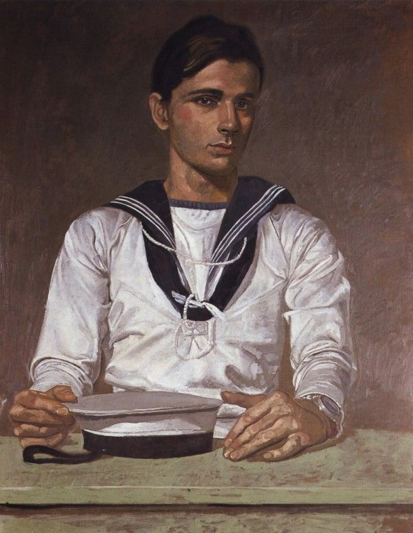 Tsarouchis Portrait de TM en marin, 1976