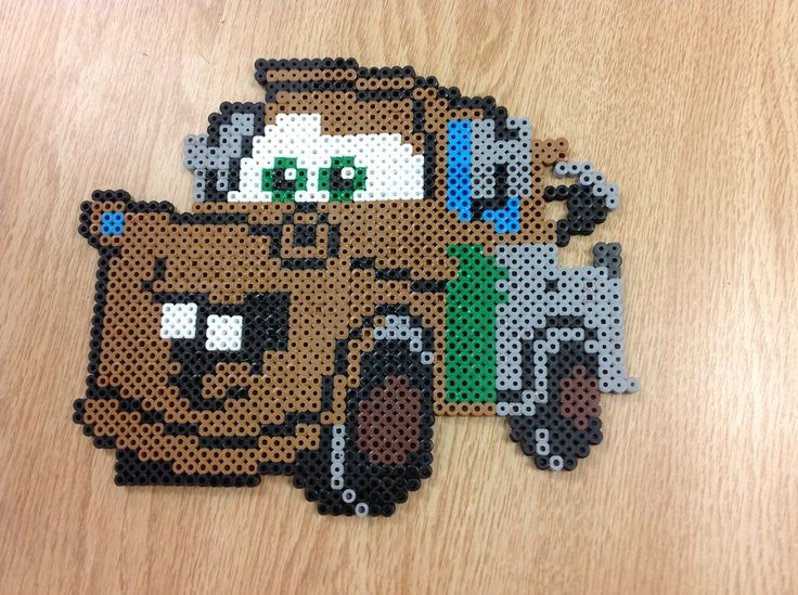 Tow Mater Cars perler bead by Amanda Collison