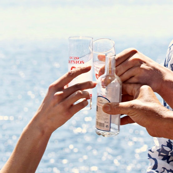 Greek Ouzo - Cheers! Greece #ouzo #greece #vacations #cyclades #visitgreece