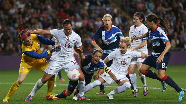Canada and Great Britain - Lovin' the pink soccer ball  :OD