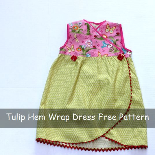 Tulip Hem Wrap Dress Free Sewing Pattern to whip up for great-nieces