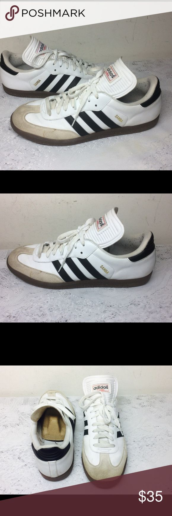 ADIDAS SAMBA CLASSIC SIZE 11.5 Excellent Used Condition, Minor Stain, Please See Pictures Below. Adidas Shoes Athletic Shoes