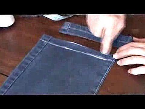 Como fazer Bainha / Barra de calça jeans original...Fácil e rápido! - YouTube