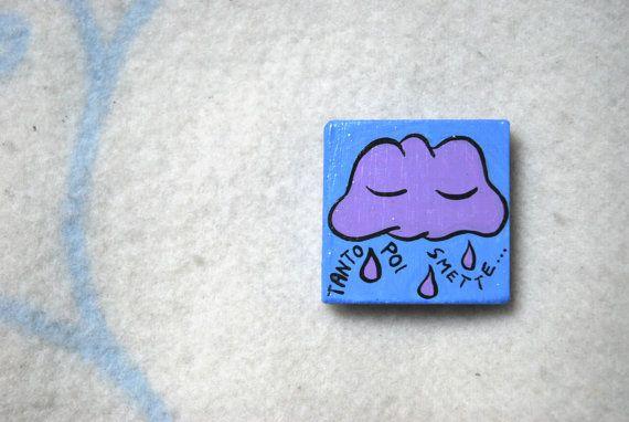 questa simpatica nuvoletta è carica di pioggia e di LabLiu su Etsy, €7.00