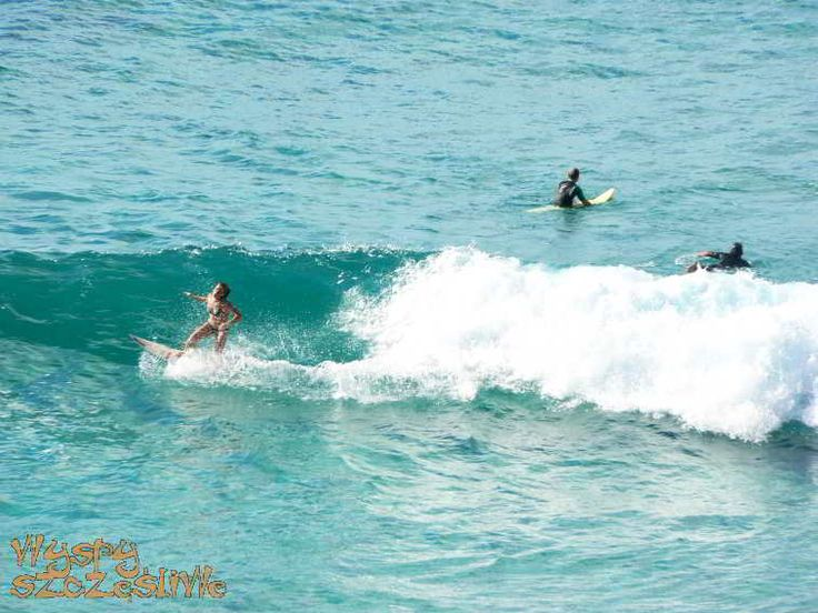 Surferzy na plaży Sotavento #Fuerteventura
