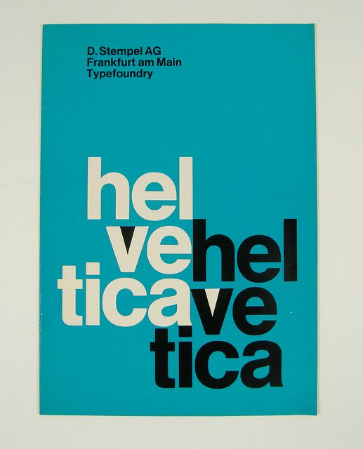 Helvetica Specimen Booklet by Herb Lubalin Study Center, via Flickr