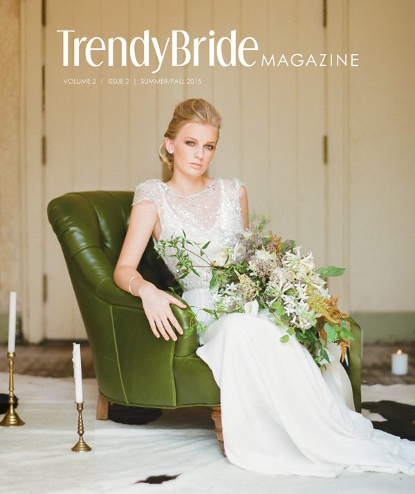 Trendy Bride's Summer/Fall 2015 issue is now available in Barnes & Noble bookstores. {Cover by Olivia Griffin} http://trendybride.net/trendy-brides-summerfall-2015-issue-is-here/ #trendybride: