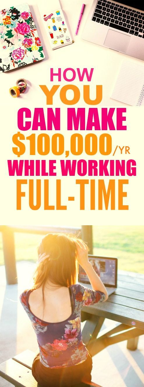 WOW. How this person made $100,000 a year while working FULL time is AMAZING…