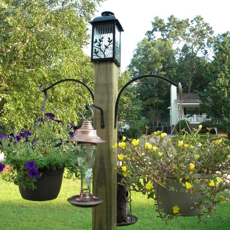 Diy Freestanding Bird Feeder And Flower Post Home Decor
