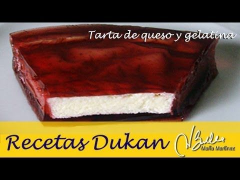 Tarta Dukan de queso y gelatina de fruta roja (fase Ataque) / Dukan Diet Strawberry Cheesecake