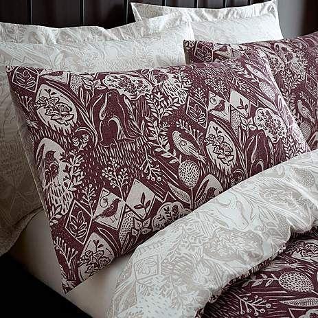 Willow Plum Bed Linen Collection   Dunelm