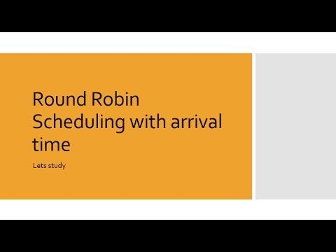Round Robin Scheduling with arrival time - YouTube