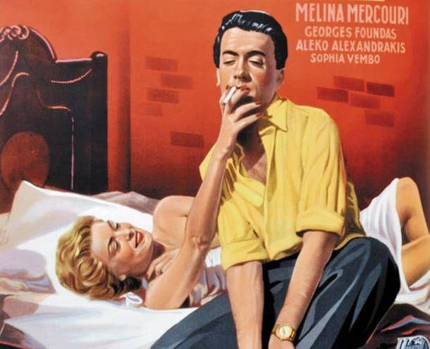 """""""Stella"""" 1955. Greek Cypriot Director : Michalis Kakogiannis. Starring Melina Mercouri, Giorgos Fountas and Alekos Alexandrakis. Won Golden Globe Award for Best Foreign Film"""