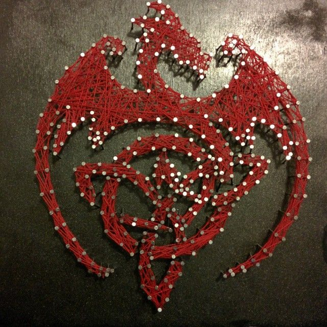 there is only terrible dragon string art on the internet ...