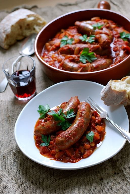 Pork Sausage Cassoulet with Cannellini Beans - The Backyard Cook