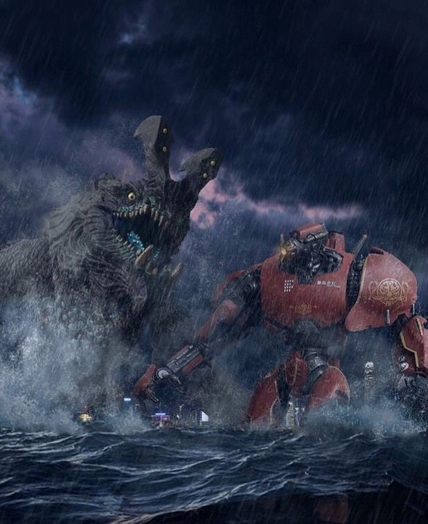 CRIMSON TYPHOON FIGHTS OTACHI by Pacific Shatterdome. Follow IG: pacific_shatterdome.