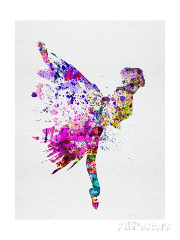 Ballerina on Stage Watercolor 3 Poster by Irina March - AllPosters.co.uk