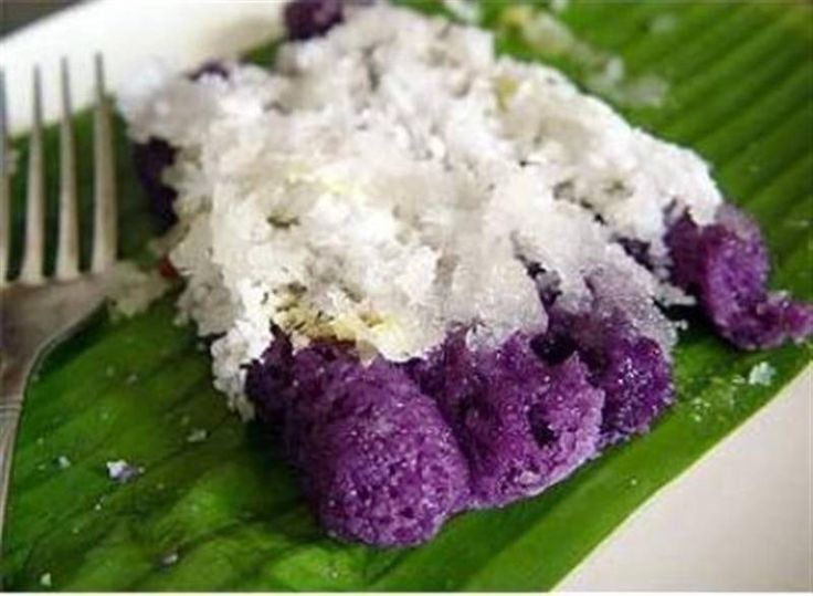 Ingredients:  1 Pack (400 grams) glutinous rice flour 2 Packs (115 grams) purple yam powder 2 1/2 Cups of water Brown sugar or mascuvado (raw sugar) Banana leaves Grated coconut Utensils: knife muslin cloth sifter or strainer 2 pcs Continue reading →