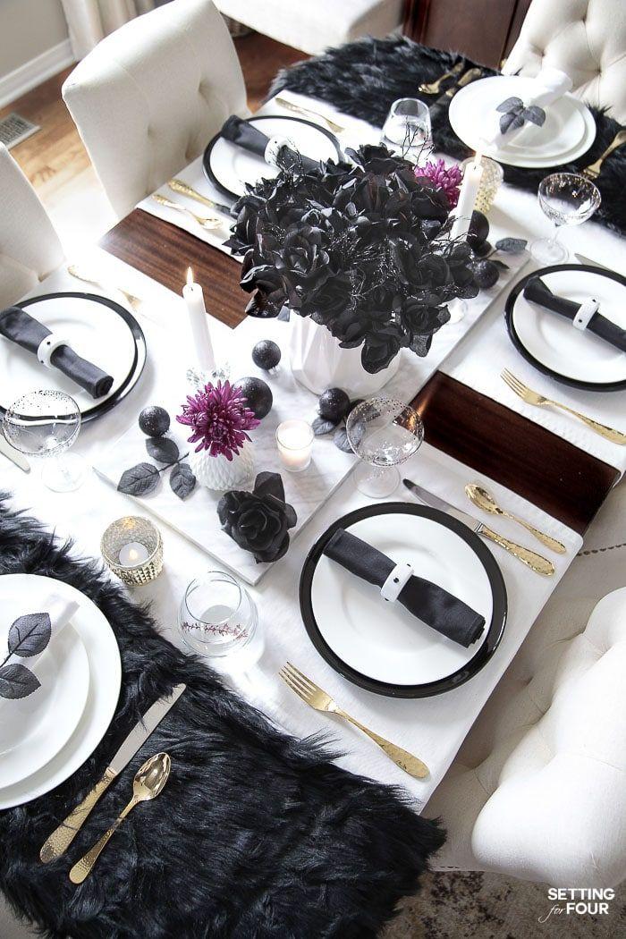 Easy Elegant Halloween Table Decorations Centerpiece Idea