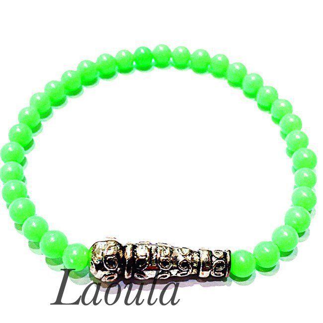 Bracelet agate verte LK, bijoux pas chers