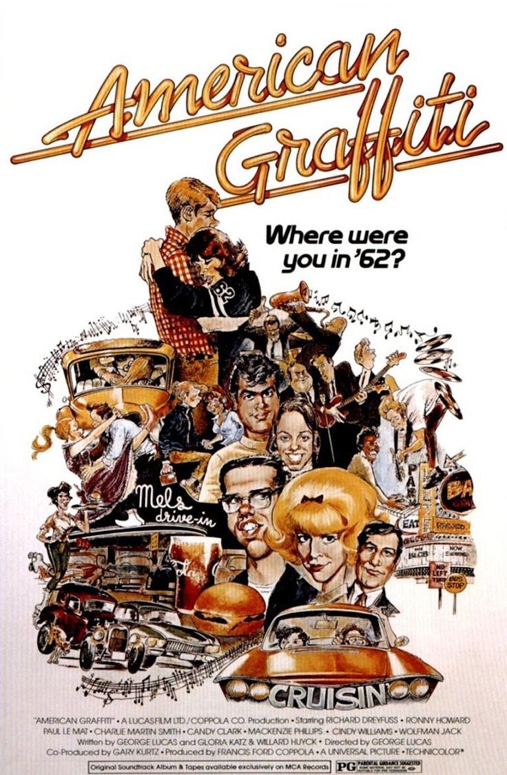 American Graffiti: Film, Movie Posters, Harrison Ford, Ron Howard, Comic Books, Favorite Movies, Graffiti 1973, American Graffiti, George Lucas