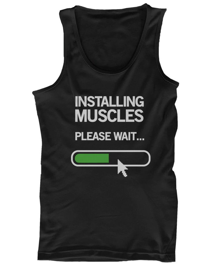 Installing Muscles Please Wait Men's Workout Tanktop Black Tank for Gym