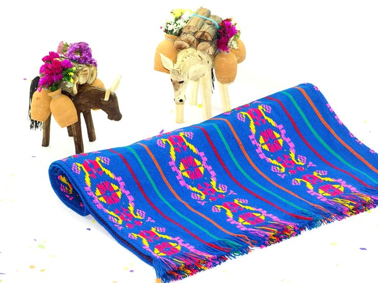 Bohemian Chic, Aztec fabric, Mexican Table Runner, Traditional Mexican Fabric, Mexican table decorations.