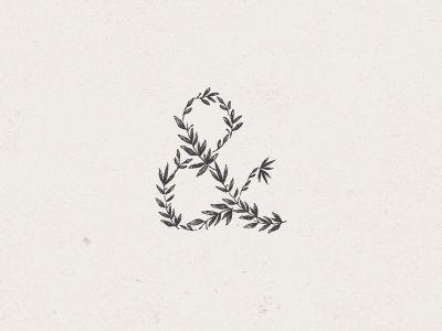 illustrated vine ampersand (typography, sketch)