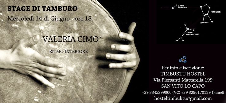 Stage di tamburo with Valeria Cimo. Discover your internal rythm