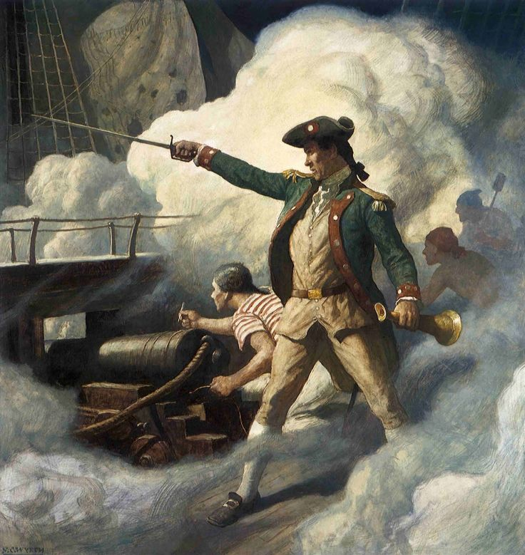 Painting of Captain John Paul Jones by N.C. Wyeth, 1938: Art Ii, Artistnc Wyeth, Captain John, American Illustrations, N C, American Artists, Ncwyeth Illustrations, John Paul Jones, Johnpauljones