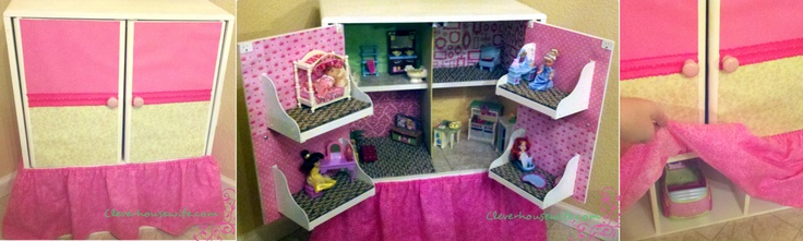 DIY Dollhouse from Repurposed Furniture: Repurpo Ideas, Diy 101, Furniture Repurpo, Diy Dollhouses, Diy Crafts, Repurpo Furniture, Repurposed Furniture, Great Ideas, Dollhouses Ideas