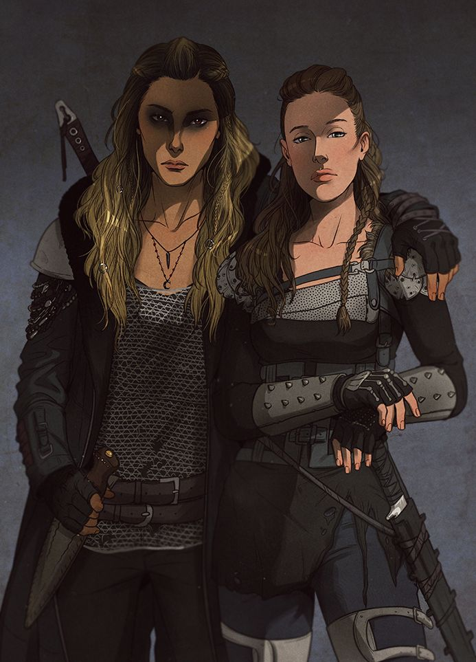 Click here for more Clexa fanart by this artist.