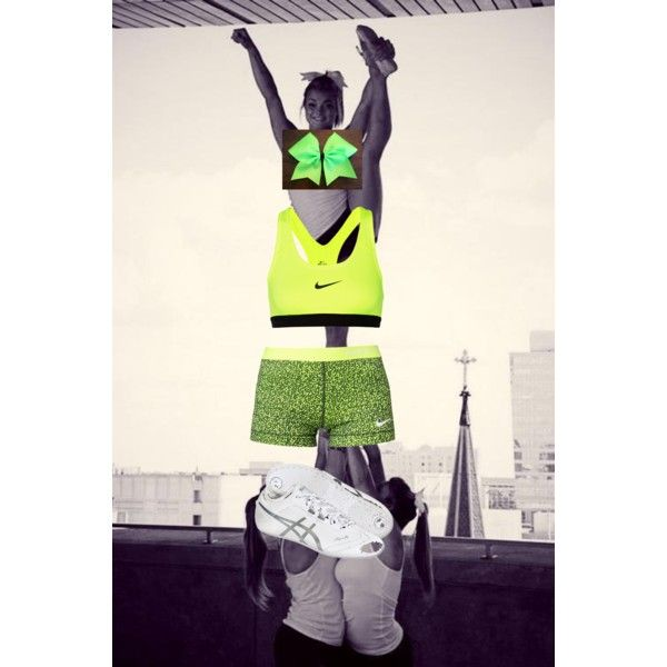 Neon Green Cheer Practice Outfit